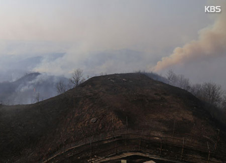 비무장지대 불로 군 감시자산 소실...북한 화공 의심