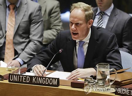 영국 유엔대사 '더 강한 대북제재' 요구…프랑스 대사도 단호대응 촉구