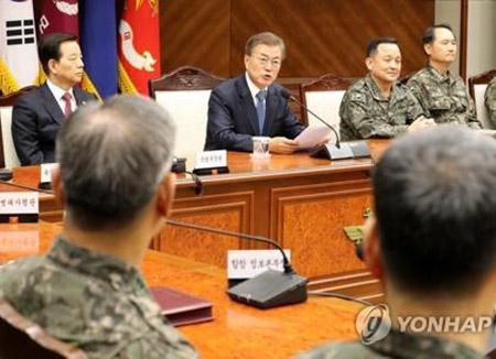 """문재인 대통령 """"북한 도발·핵 위협 결코 용납하지 않을 것"""""""