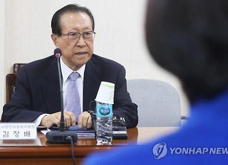국정 역사교과서 총괄, 김정배 국사편찬위원장 사의
