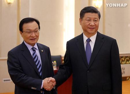 المبعوث الرئاسي الكوري الخاص يلتقى بالرئيس الصيني
