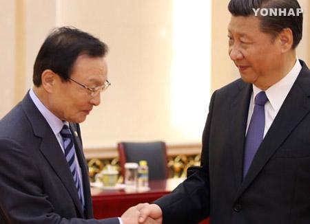 El enviado especial de Moon Jae In a China se encuentra con Xi Jinping