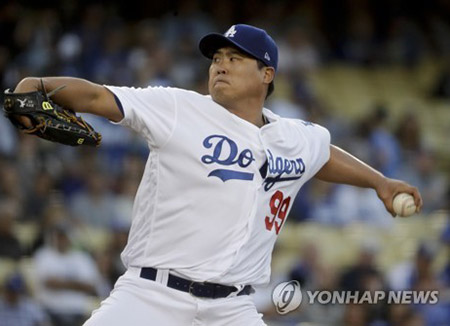Dodgers' Ryu Hyun-jin Earns Season's Third Win