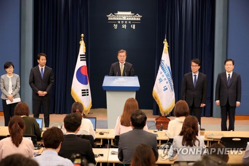 South Korea's new president announces key administration appointments