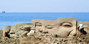 Coup d'envoi du festival du sable de Haeundae à Busan