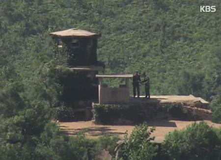 一名北韩士兵越过军事分界线投奔韩国