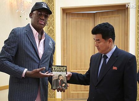 ロッドマン 「グアム島で北韓とのバスケ試合企画したい」