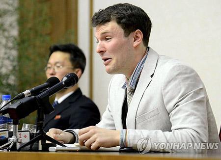 혼수상태로 북한서 송환된 웜비어 사망