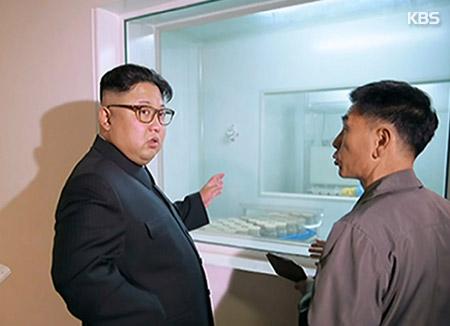 북한 김정은, 생산공정 자동화 치과용품공장 시찰