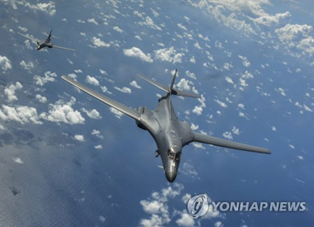 Американские бомбардировщики B-1B принимают участие в учениях ВС РК и США