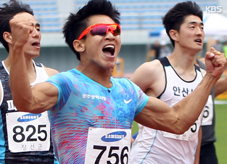 Sprinter Kim Kuk-young Sets Fresh Korean Record in Men's 100 Meters