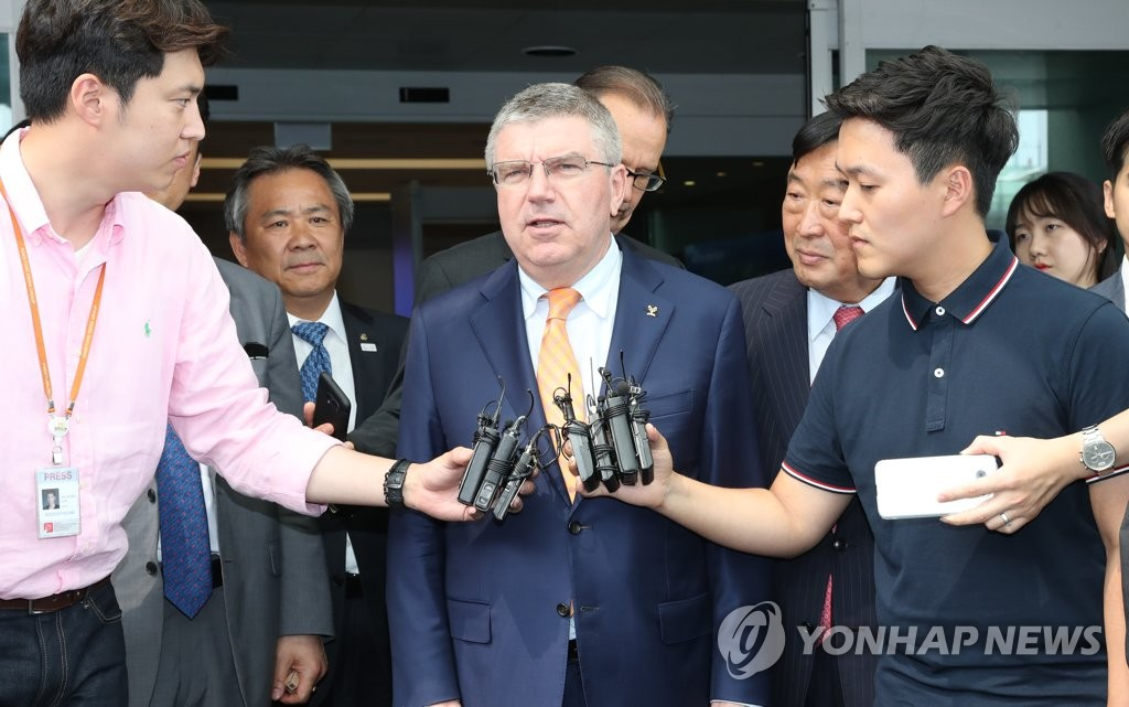 Bach says he's open to unified Koreas team for Pyeongchang