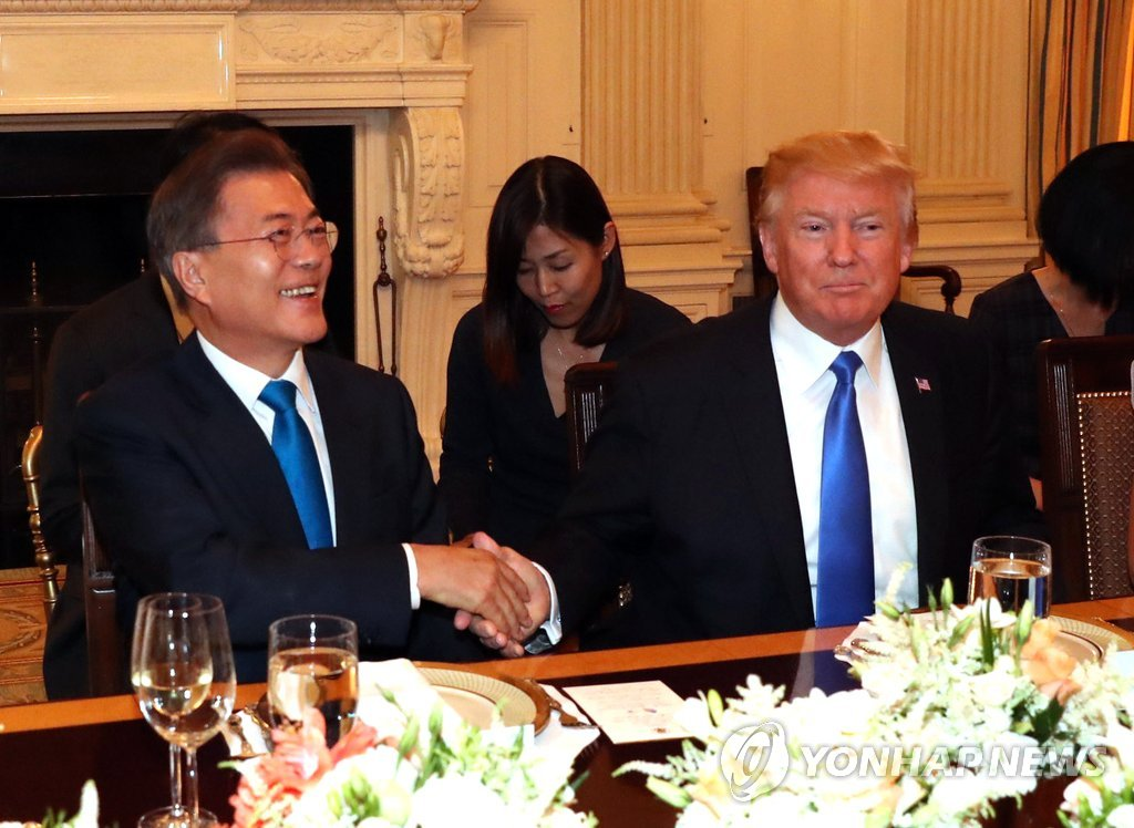 Moon Meets Trump at White House on Eve of Bilateral Summit
