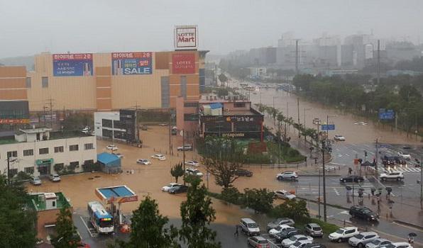 5 Dead Following 300mm of Rainfall in Chungcheong