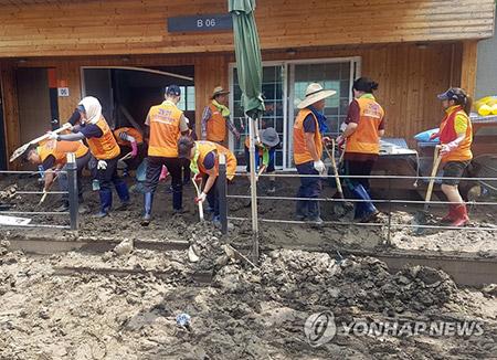 Inspeccionarán los daños causados por las lluvias en Chungcheong
