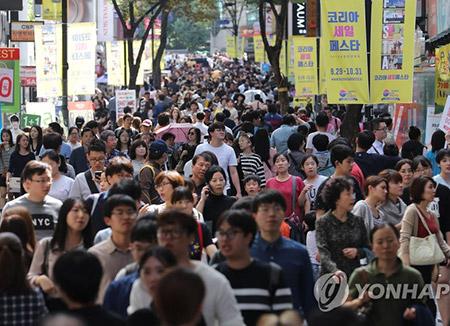 韩国总人口为5173万 较去年增加4万