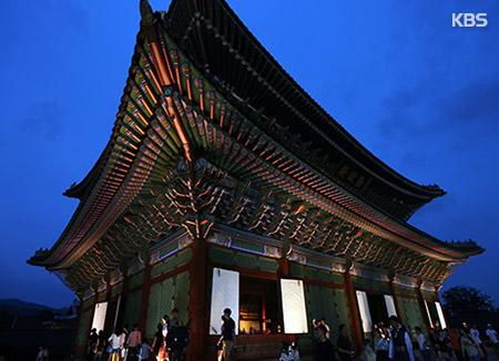 ソウルの王宮夜間公開 前倒しで13日から