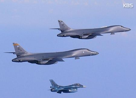 미국, 8일 장거리폭격기 B-1B 2대 또 한반도 전개