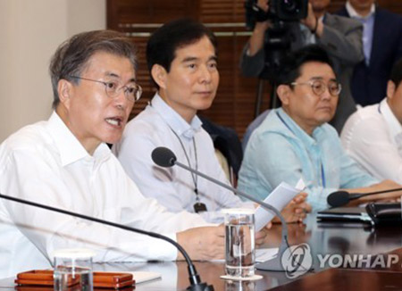 Moon Calls for Expansion of Welfare