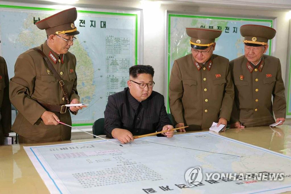金委員長が戦略軍司令部視察「米の動静を見守る」
