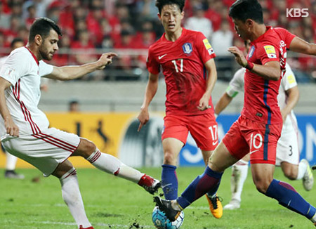 韓国、イランと引き分け  W杯出場持ち越し