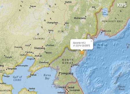 KMA: 3.2 Magnitude Quake Detected in N. Korea Presumed to be Natural