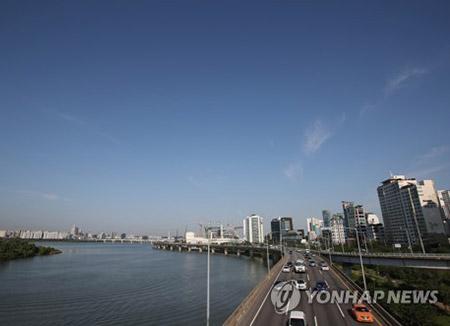 Le soleil brille sur toute la Corée du Sud