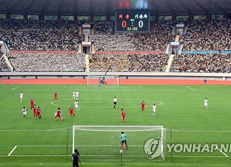 オウンゴール2点献上 韓国・ロシアサッカー親善試合
