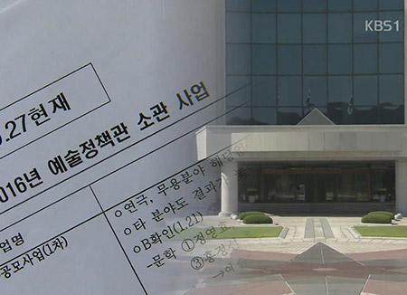 El Gobierno de LeeMB también creó una lista negra en el sector cultural