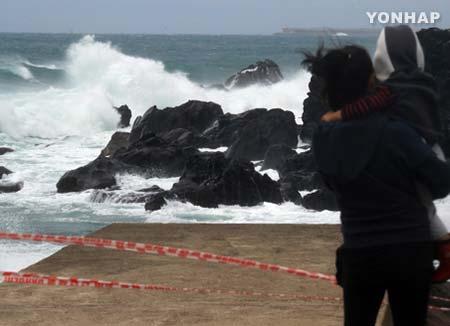 Le typhon Talim affecte l'île de Jeju