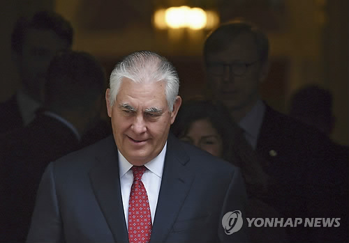 Tillerson Calls for China's Cooperation on N. Korea's Nuke Issue