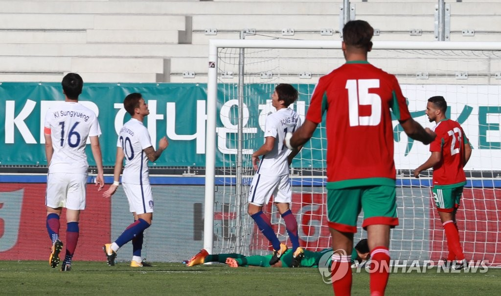S. Korea Loses to Morocco 3-1 in Football Friendly