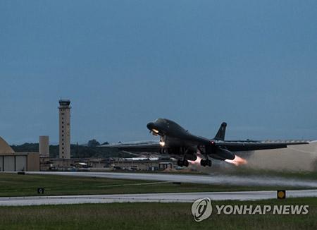 미국, 10일밤 B-1B 폭격기 2대 또 한반도 전개