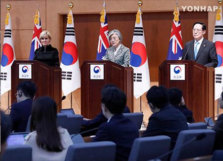 韓豪が外交・国防閣僚会議 北韓問題での連携で一致