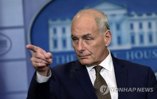 白宫幕僚长凯利愿外交解决北韩问题 称仍可管理北韩威胁