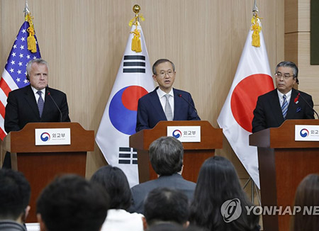 韓日米  「韓半島状況の安定的管理が必要」