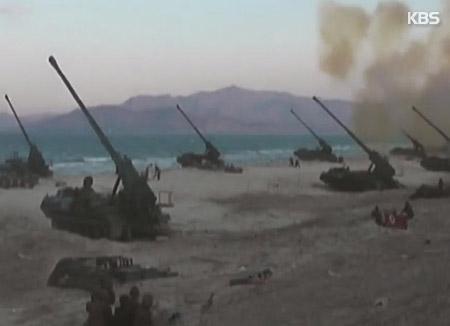 北韓 大規模な火力訓練の準備か