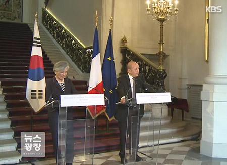 韩法商定为解决北韩核问题密切合作