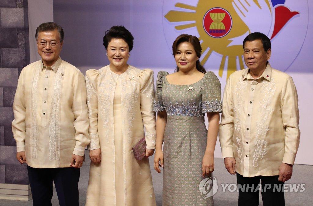 文在寅总统13日同菲律宾总统杜特尔特举行首脑会谈