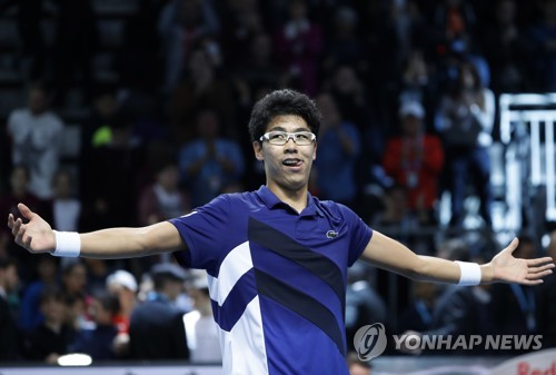 Tennis Player Chung Hyeon Wins First ATP Title
