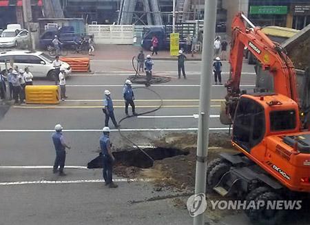 정부, 대형 '싱크홀' 발생 시 중앙지하사고조사위 가동