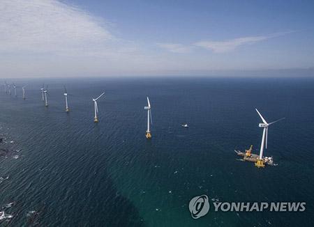 '해상풍력발전시대 활짝' 제주 탐라해상풍력 30㎿ 상업운전 돌입