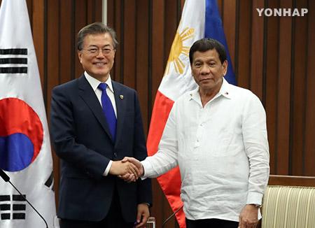 韓国・フィリピン首脳 インフラ・防衛分野で緊密協力へ