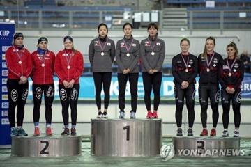 S. Korea Wins First Team Sprint Gold at ISU World Cup