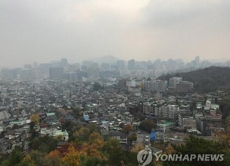 Sequía en Gyeongsang y esmog en la costa oeste