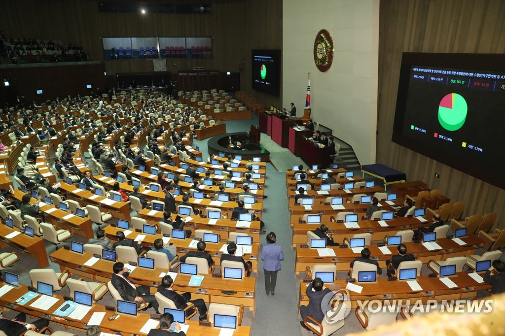 Nat'l Assembly Passes Bill on Shedding Light on Sewol Sinking and Humidifiers Scandal