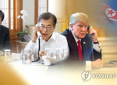 Moon et Trump s'engagent à amener Pyongyang au dialogue à travers sanctions et pression