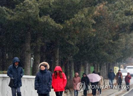 ソウル氷点下7度4分 この冬一番の冷え込み