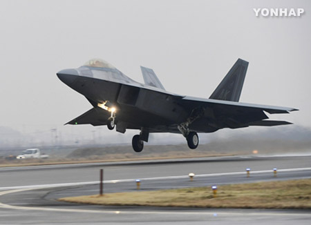 Aviones de combate norteamericanos arriban a Corea del Sur