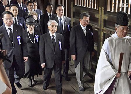 일본 여야의원들, 5일 A급전범 합사 야스쿠니 집단참배 계획